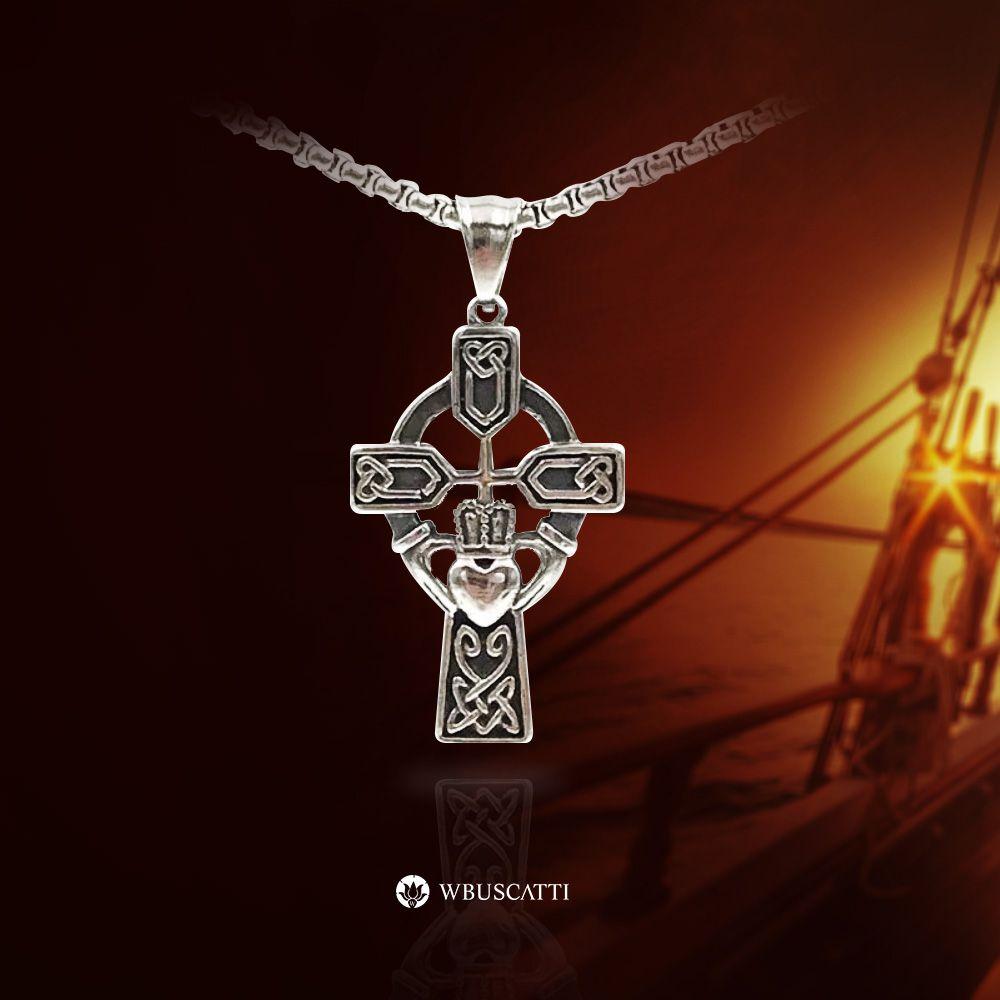 Colar Masculino Luxury Cross Metal