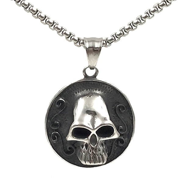 Colar Masculino Luxury Skull Metal
