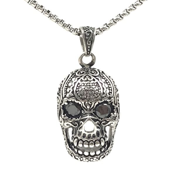 Colar Masculino Mexican Skull Metal
