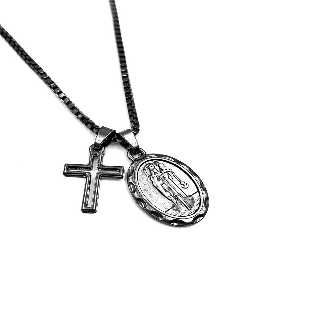 Colar Nossa Senhora dos Navegantes com Cruz