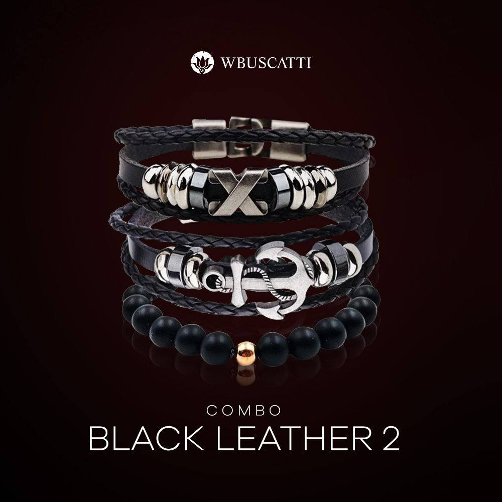 Combo Masculino Black Leather 2