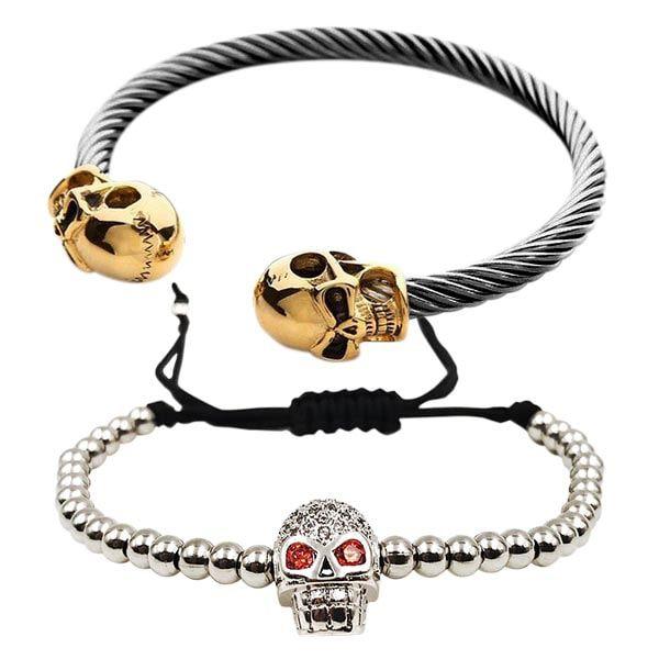 Combo Skull Gold & Silver