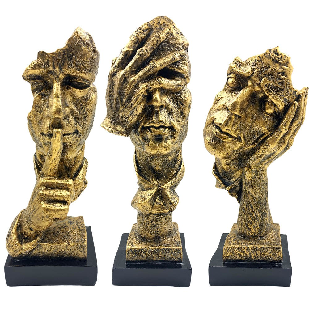 Conjunto Máscaras Decorativas Douradas