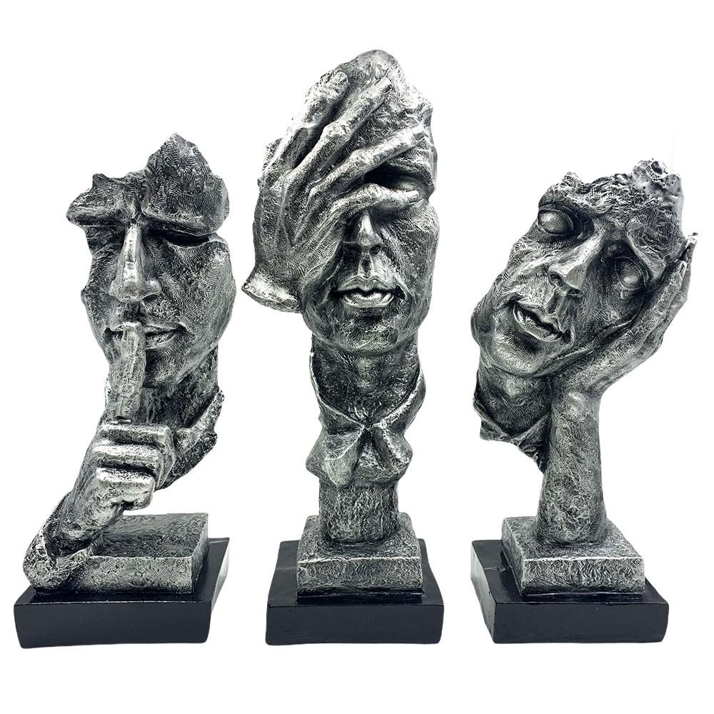 Conjunto Máscaras Decorativas Prateadas