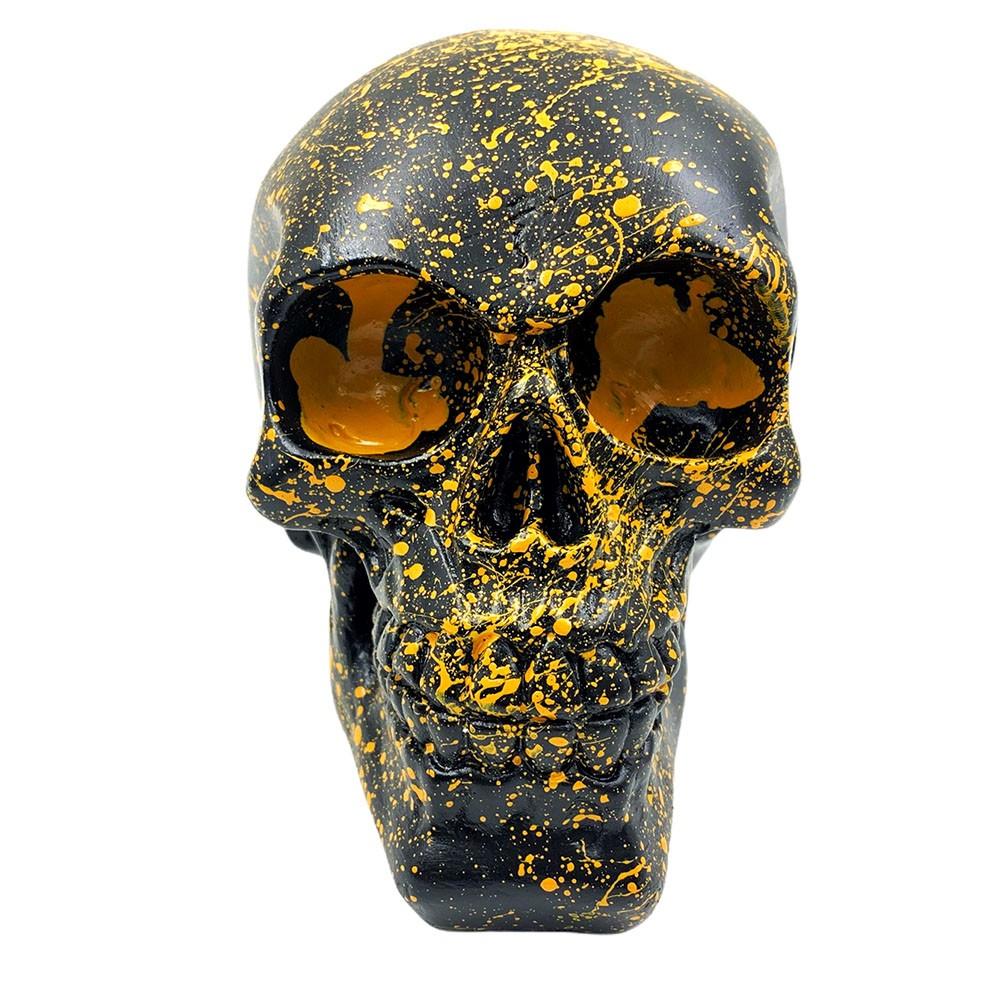Enfeite Caveira Decorativa Amarela