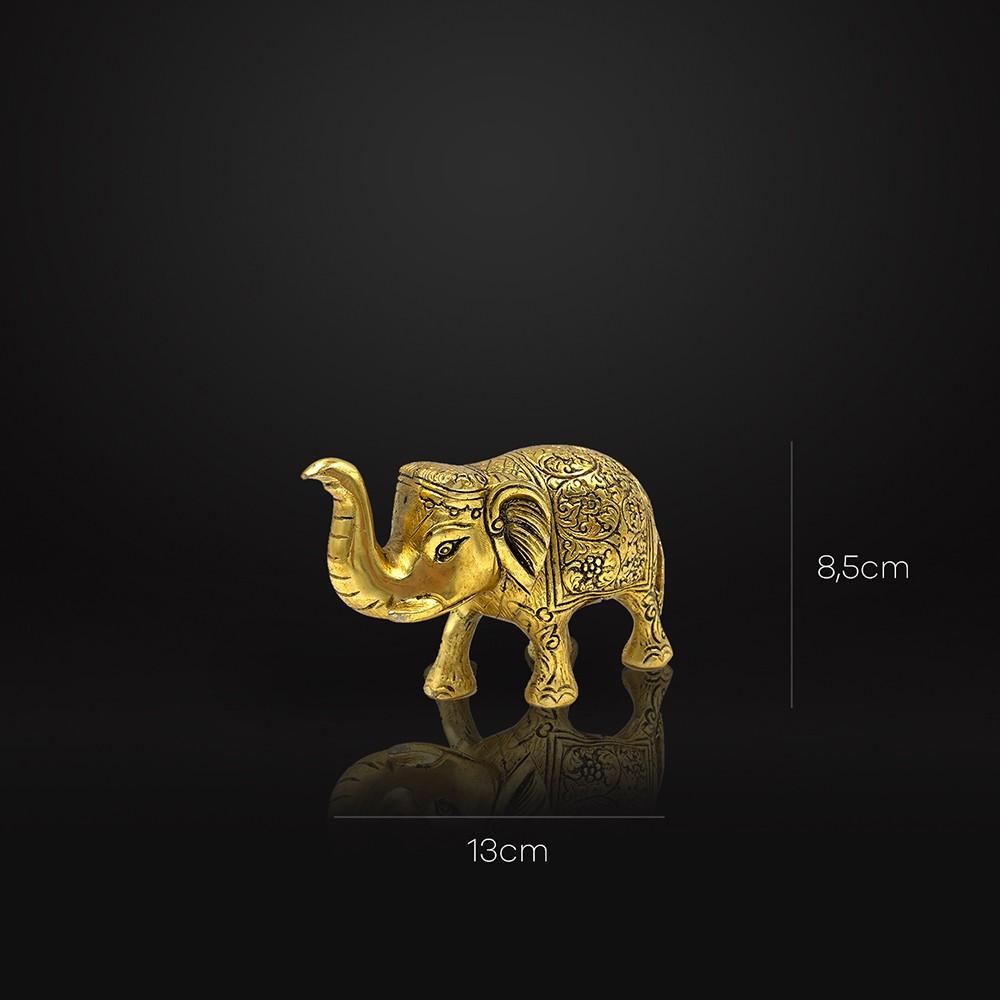 Enfeite Elefante Dourado
