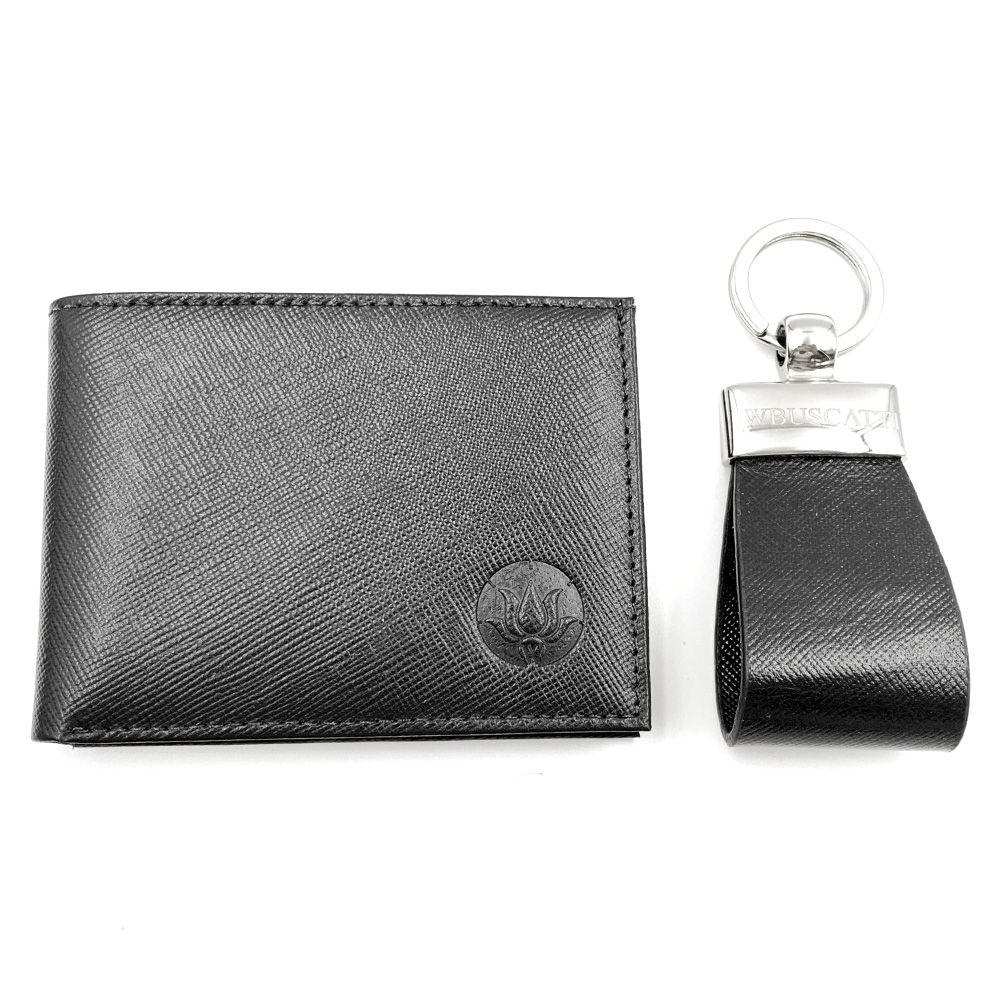 Kit Carteira Pocket e Chaveiro Black