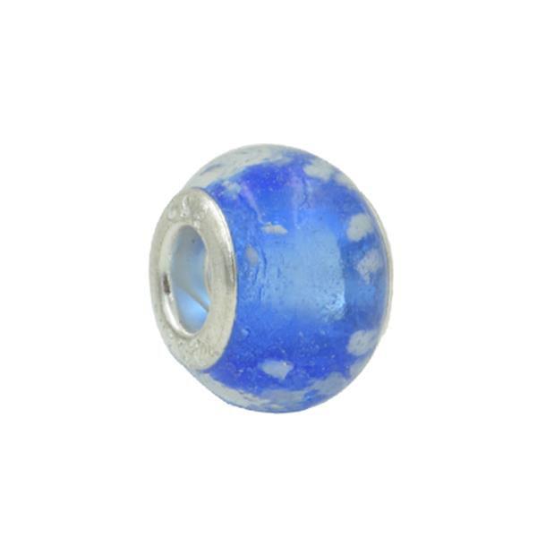 Murano Pandora Inspired Azul Bolhas