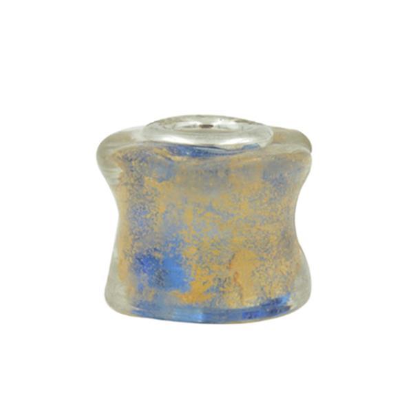 Murano Pandora Inspired Cube Gold