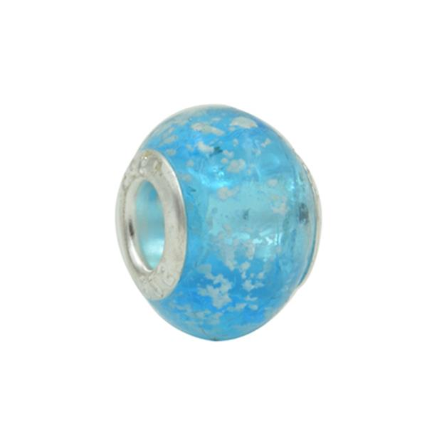 Murano Pandora Inspired Light Blue Neon