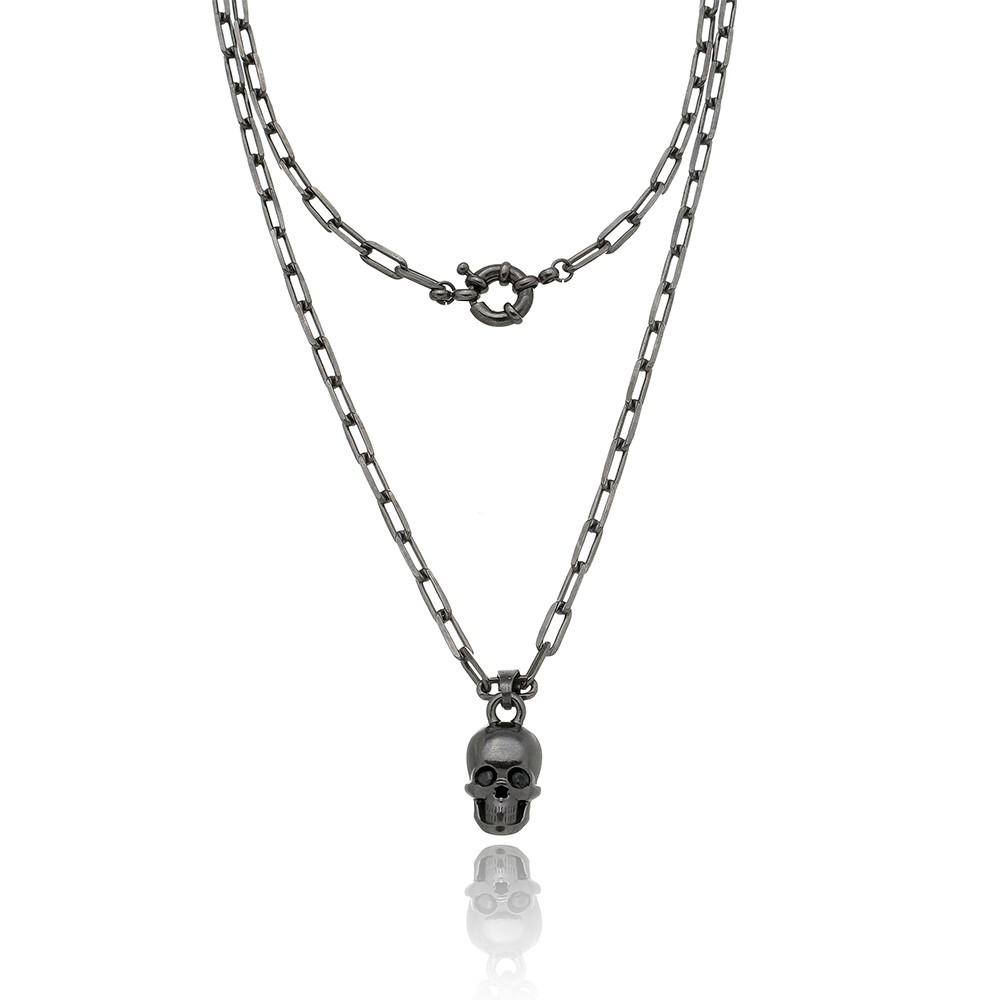 Colar Cartier Skull Black
