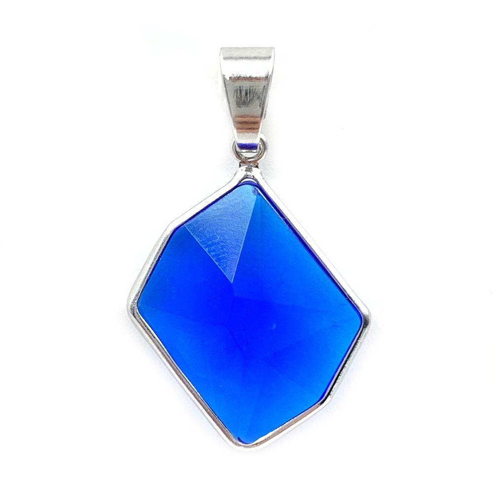 Pingente Pedra Safira Azul Sintética