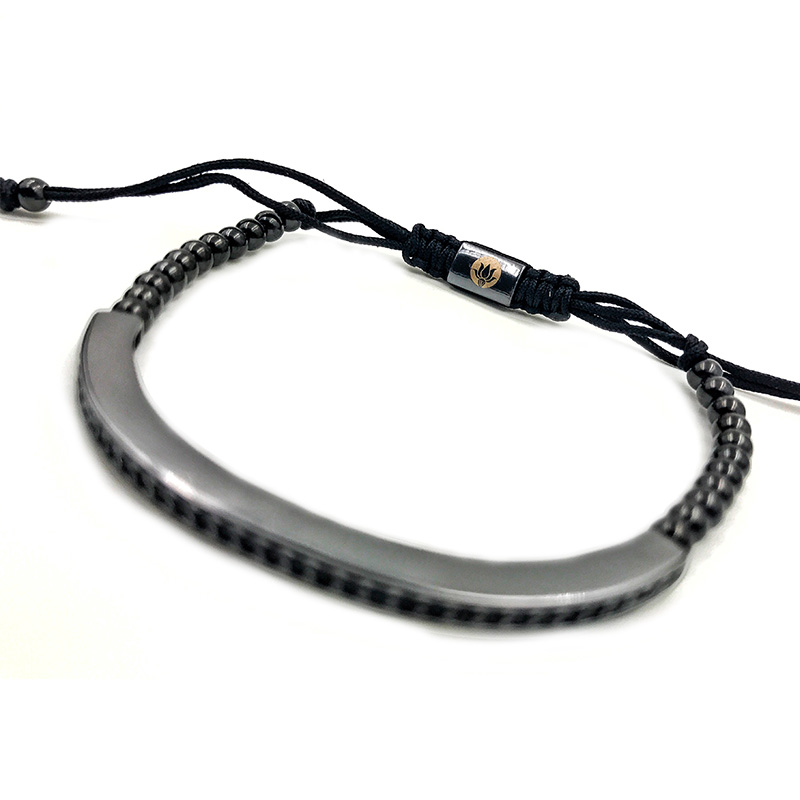 Pulseira Black Diamond Macrame