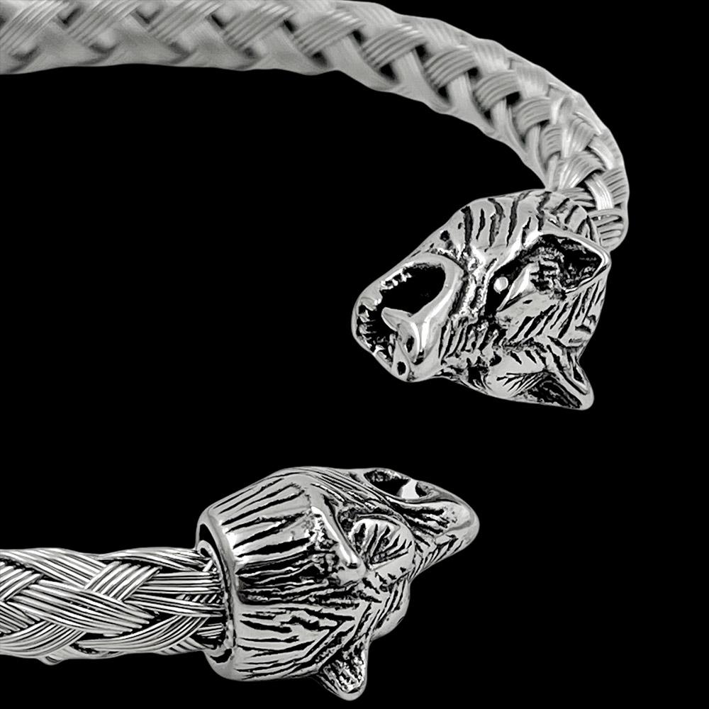 Pulseira Bracelete Trançado Tigre