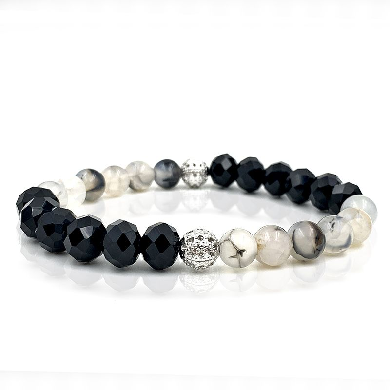 Pulseira Crystal Black and White
