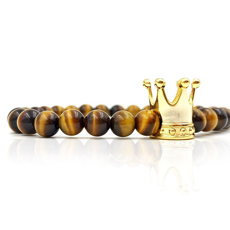 Pulseira de Pedra Tiger Crown