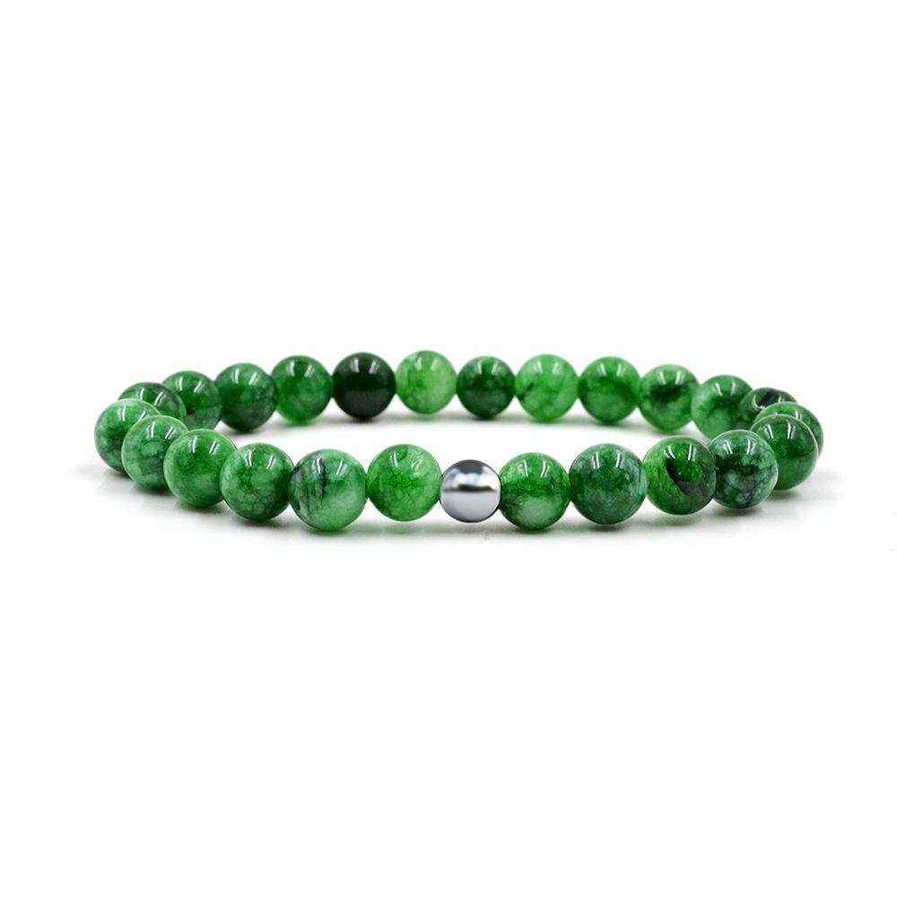 Pulseira Pedra Jade Imperial Verde