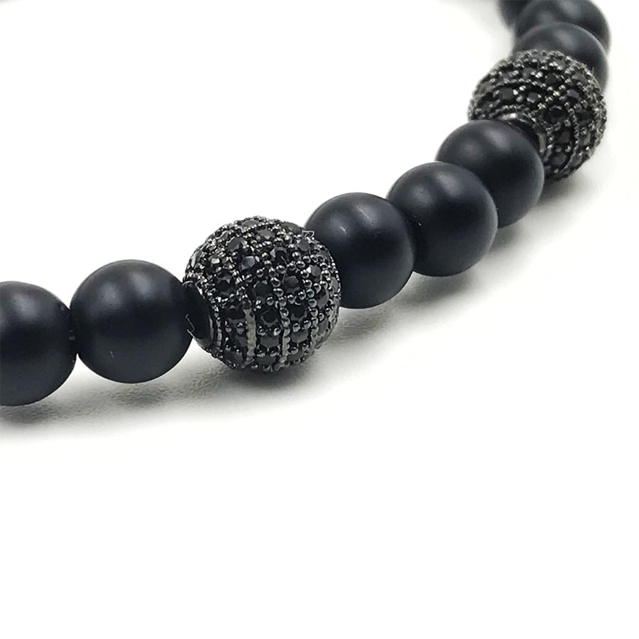 Pulseira Double Black Stone