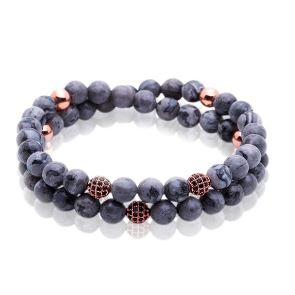 Pulseira Double Grey Stone