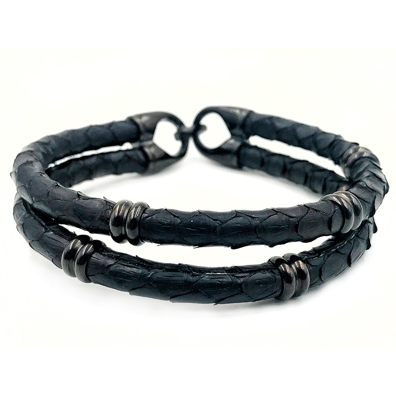 Pulseira Double Python Dark Black
