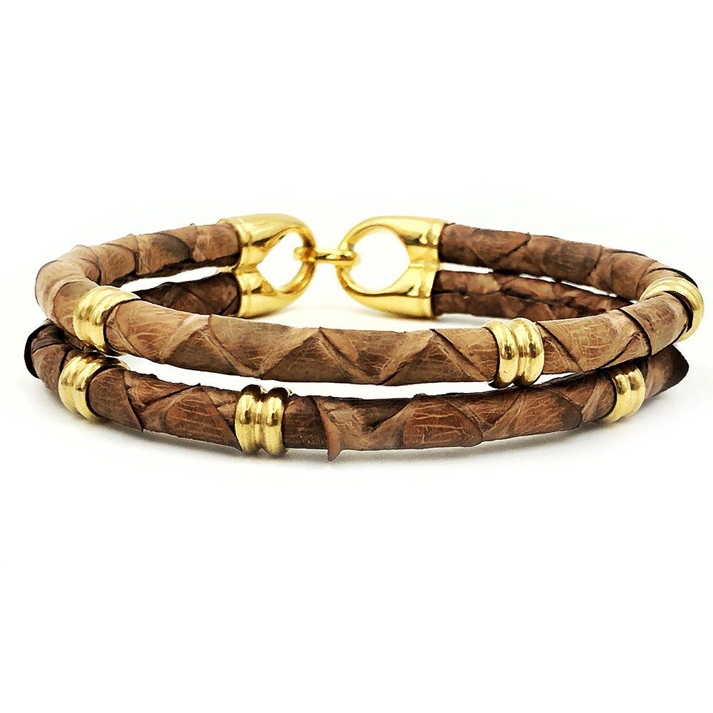 Pulseira Double Python Light Brown