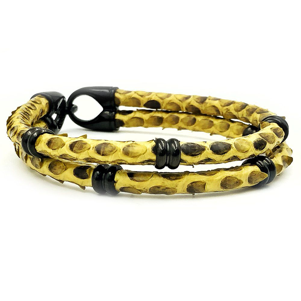 Pulseira Double Python Yellow