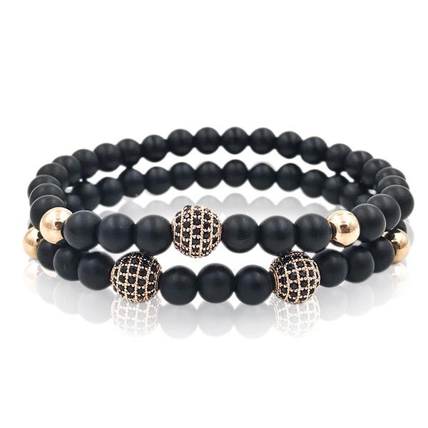 Pulseira Double Rose Stone