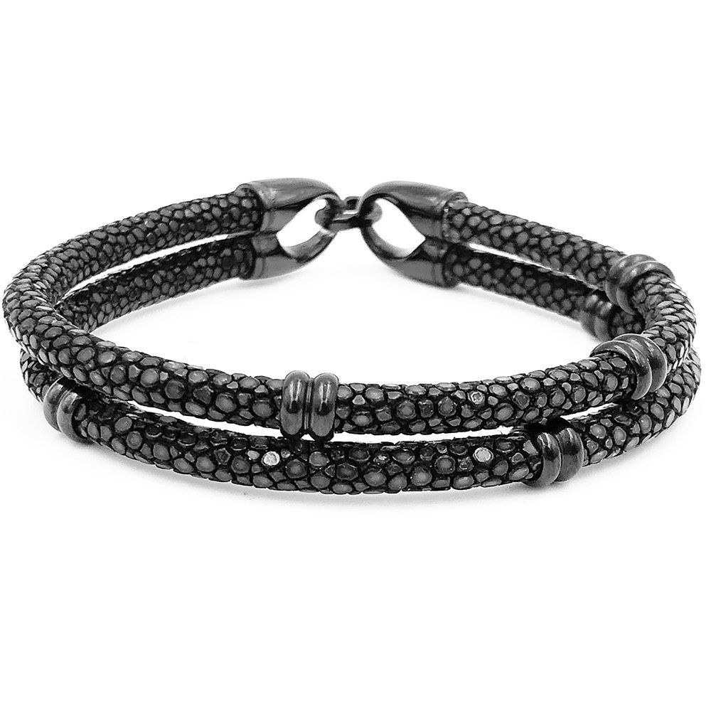 Pulseira Masculina Double Sting Black