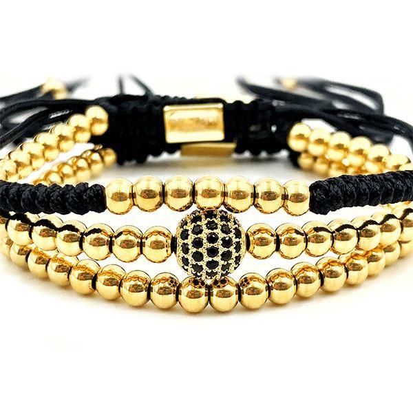 Pulseira Masculina Kit Macramê Gold