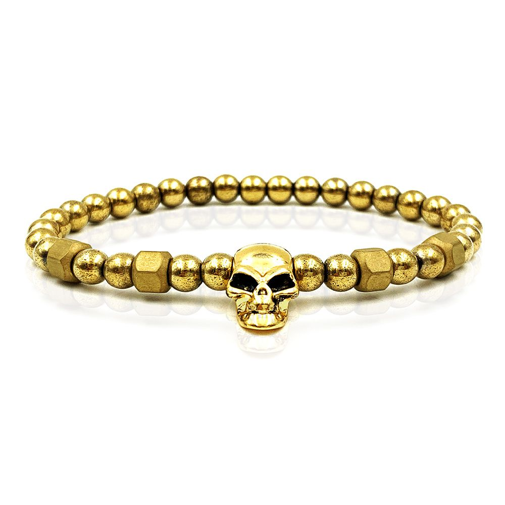 Pulseira Luxury Gold Skull