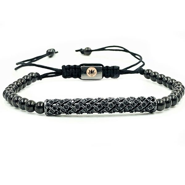 Pulseira Macramê Black Diamond Luxury