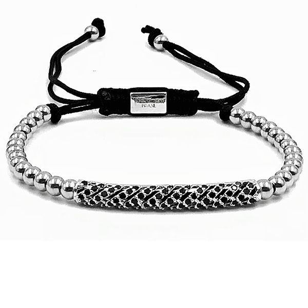 Pulseira Macramê Silver Diamond Luxury