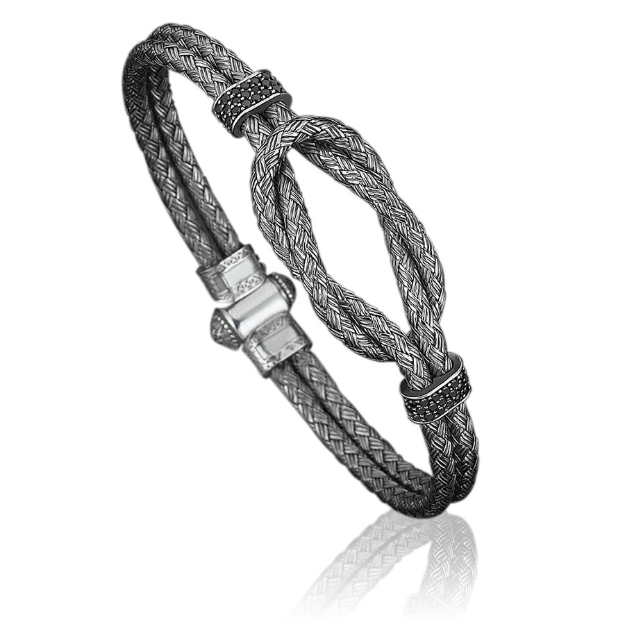 Pulseira Masculina Steel Bangle Black