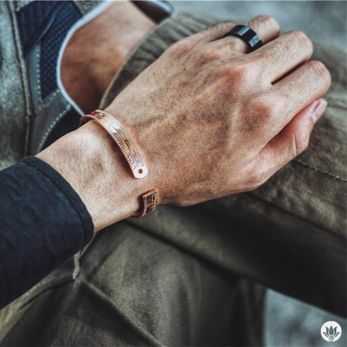 Pulseira Masculina Knowledge Is Power Rose
