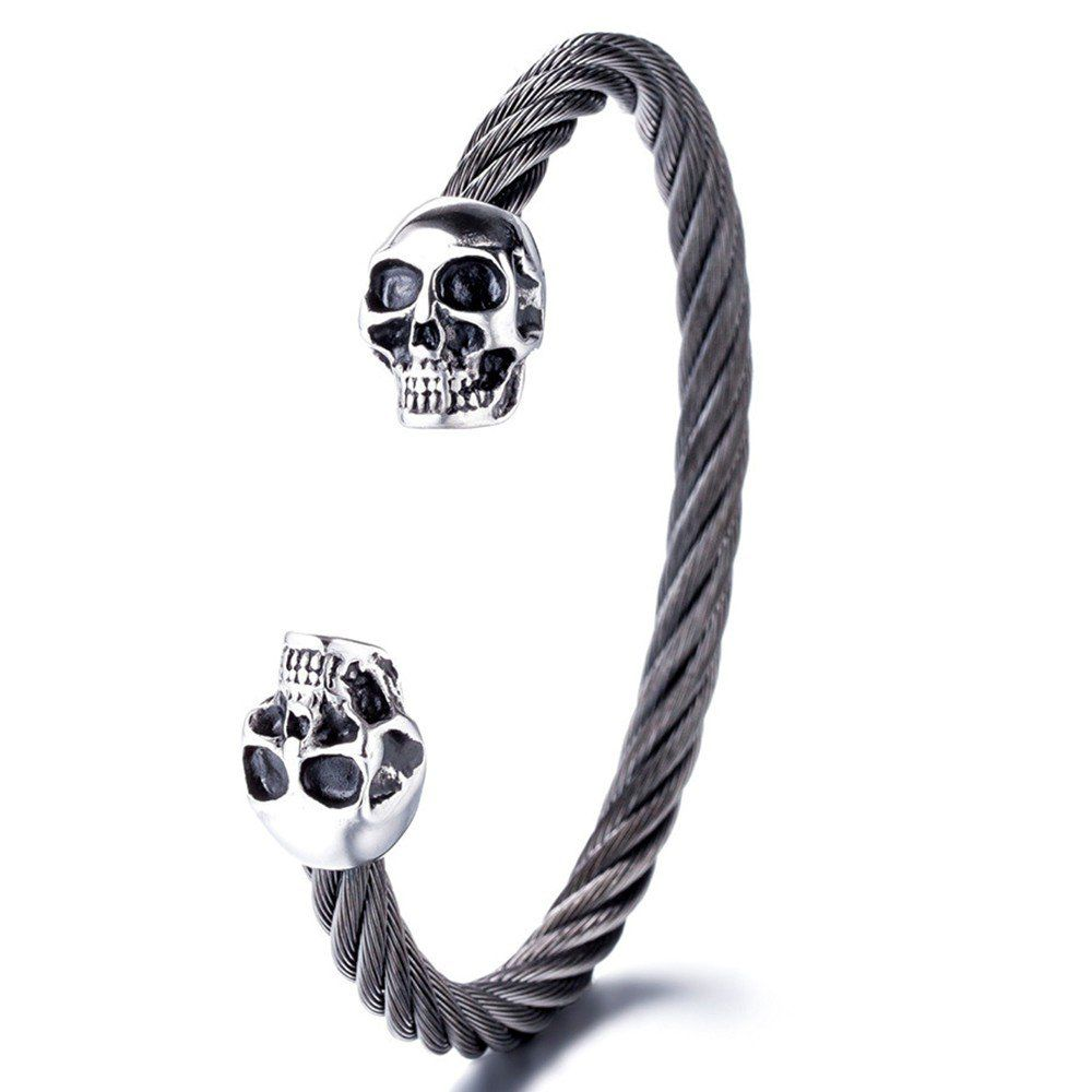 Pulseira Masculina Premium Skull Black Limited