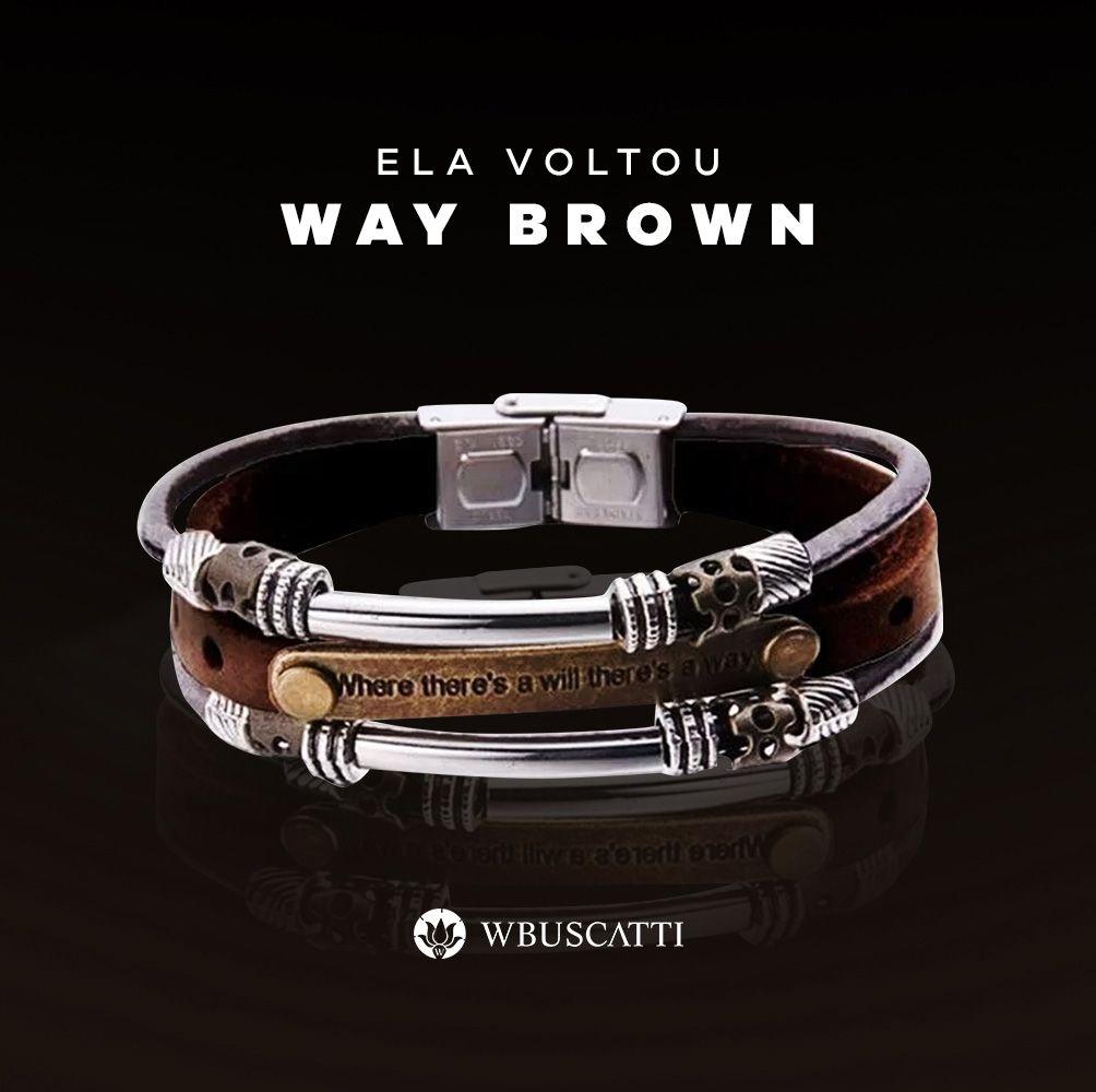 Pulseira Masculina Way Brown
