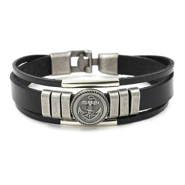 Pulseira Masculina Way Of Anchor Black