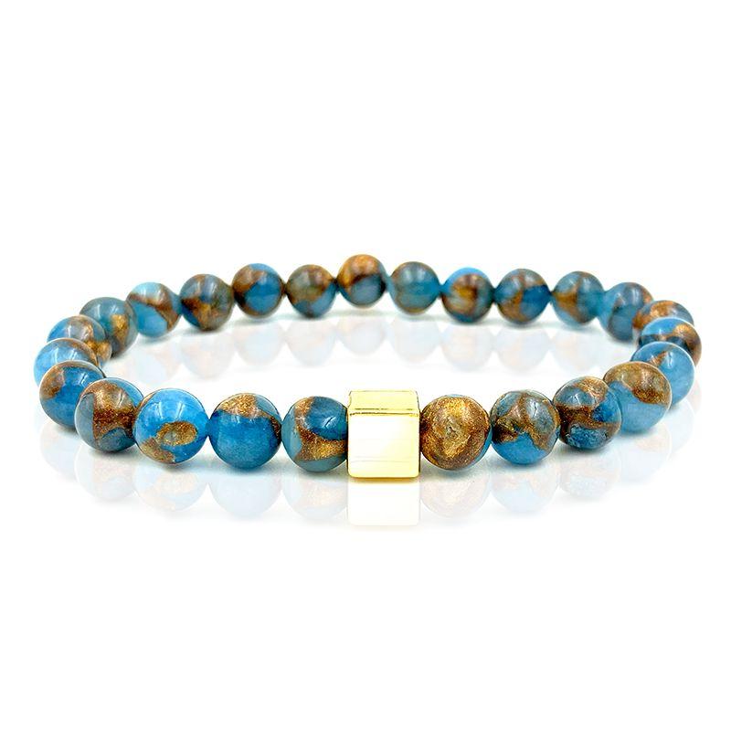 Pulseira Pedra Basic Azul Mescla