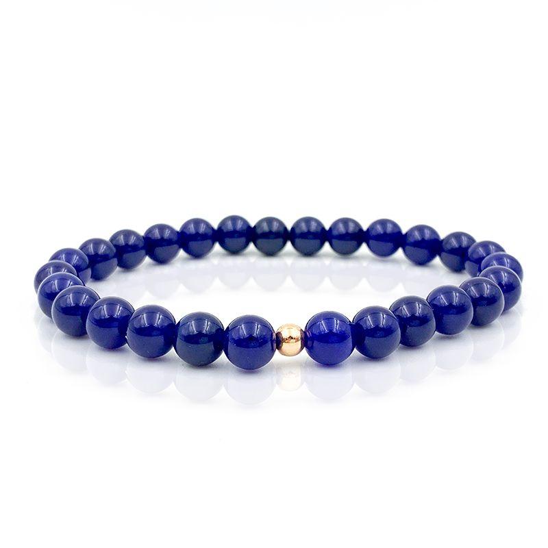 Pulseira Pedra de Jade Azul Anil