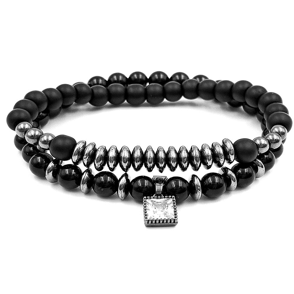 Pulseira Pedra Double Black Diamond