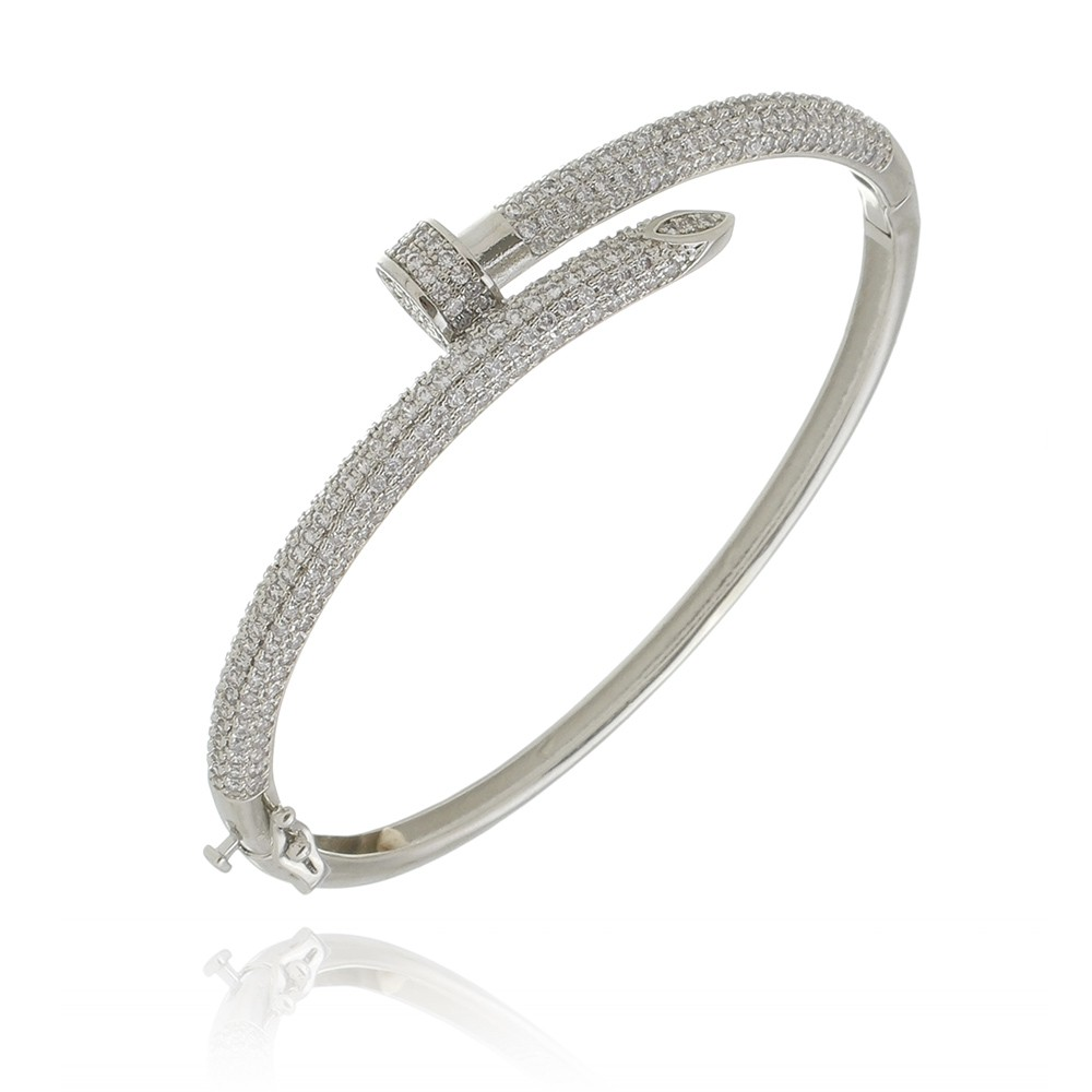 Pulseira Prego Diamonds Silver