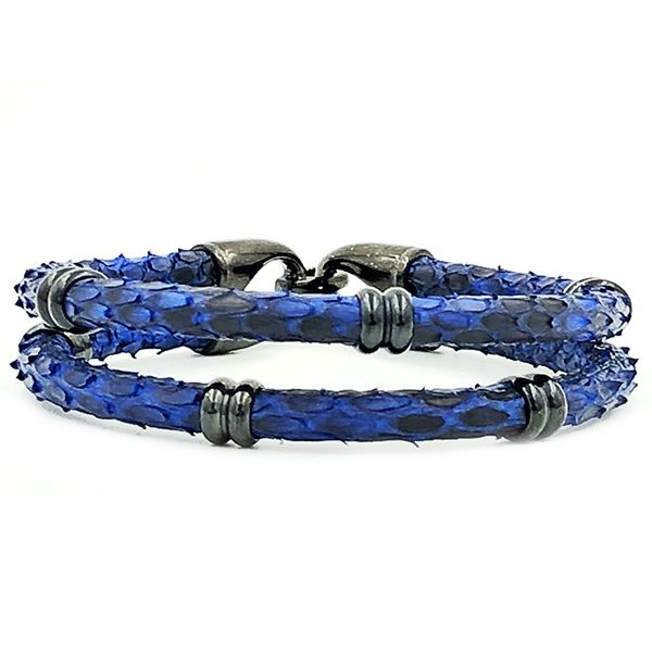 Pulseira Python Double Dark Blue