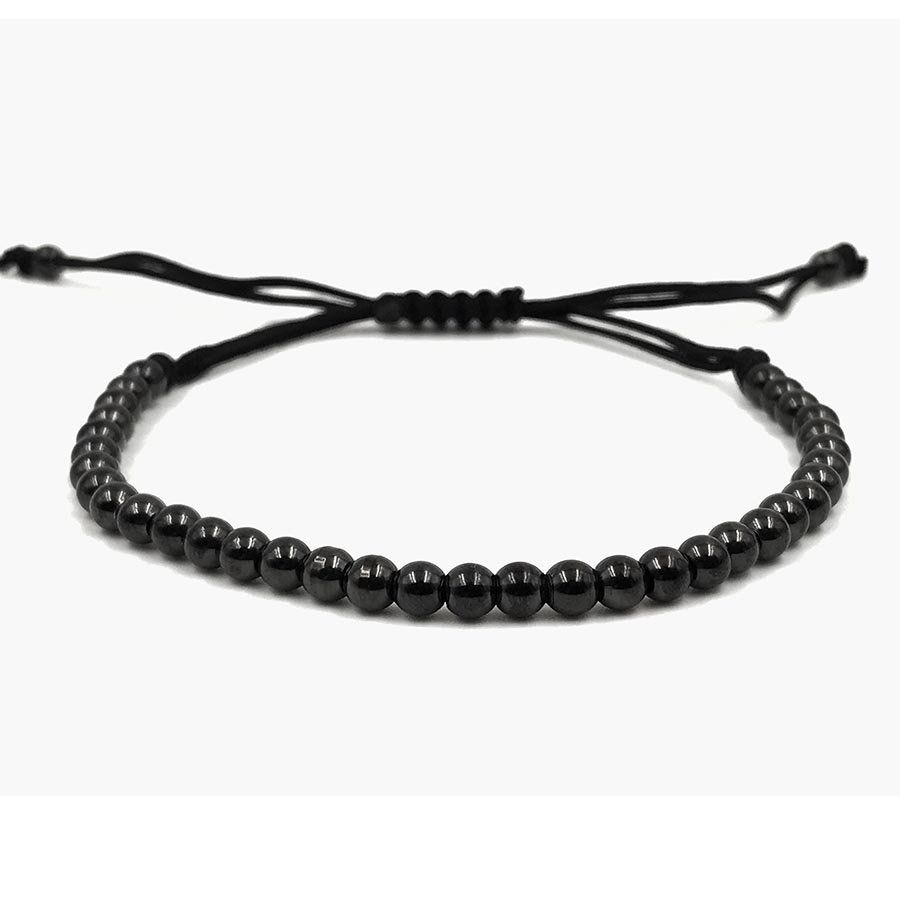 Pulseira Masculina Simple Macramê Black