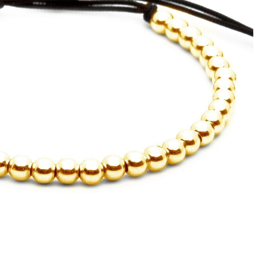 Pulseira Masculina Simple Macramê Gold