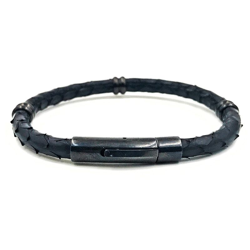 Pulseira Masculina Single Python Black