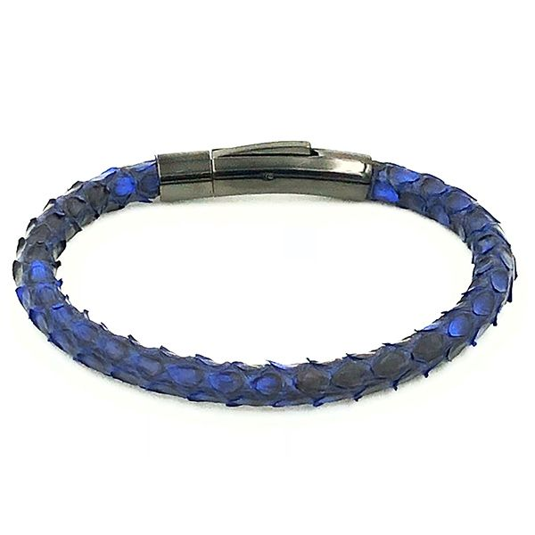 Pulseira Masculina Single Python Dark Blue