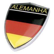 Adesivo para Carro - Escudo Alemanha - Plástico Injetado - Cromado - 49x57mm