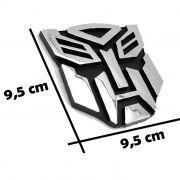 Adesivo para Carro - Transformers  - Plástico Injetado - Cromado