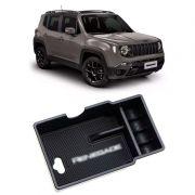 Compartimento Porta Objetos Moedas Jeep Renegade 2015 2016 2017 2018 2019 2020 - Branco