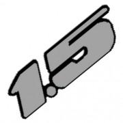 Emblema Adesivo - 1.5 VW - Cinza Lixado